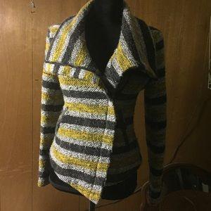 Greylin wool blend moto style jacket S